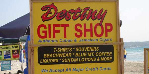 Destiny's Gift Shop - Sea Wind Resort - Negril Jamaica